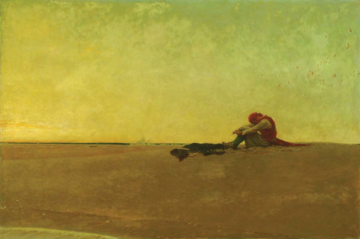 Marooned , Howard Pyle (1909) | Oil on canvas, 40 x 60 inches.  Delaware Art Museum .