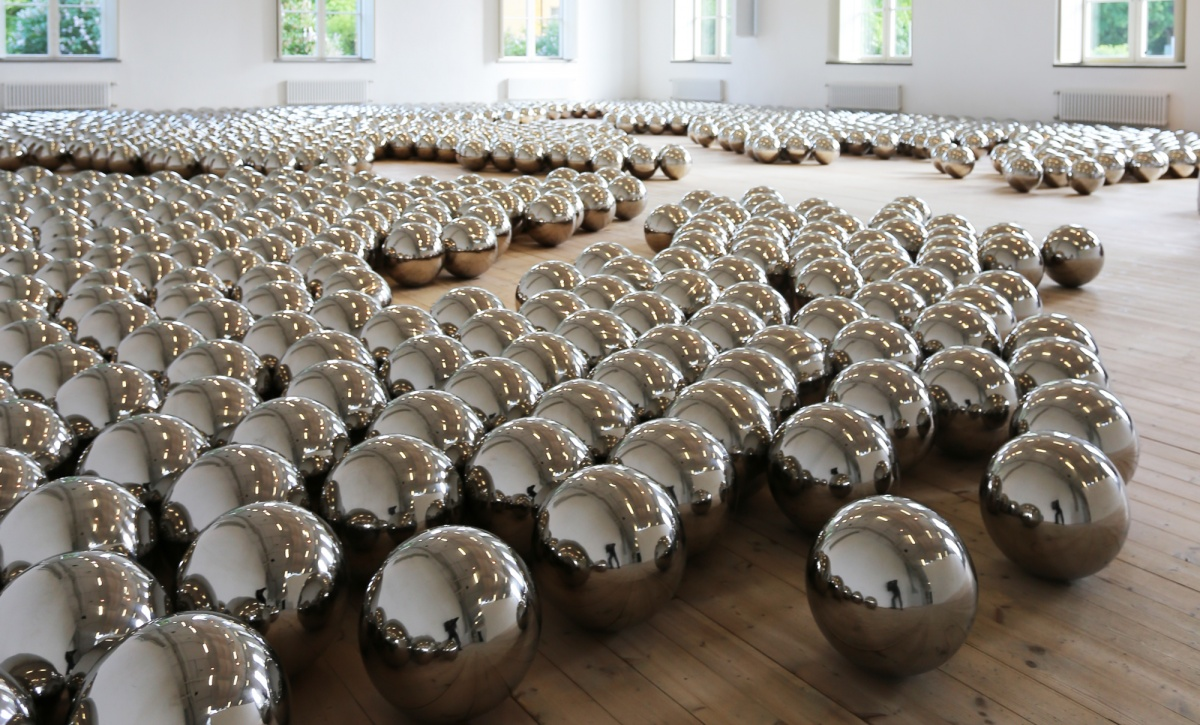 Narcissus Garden - 1966 | Stainless-steel mirror balls.