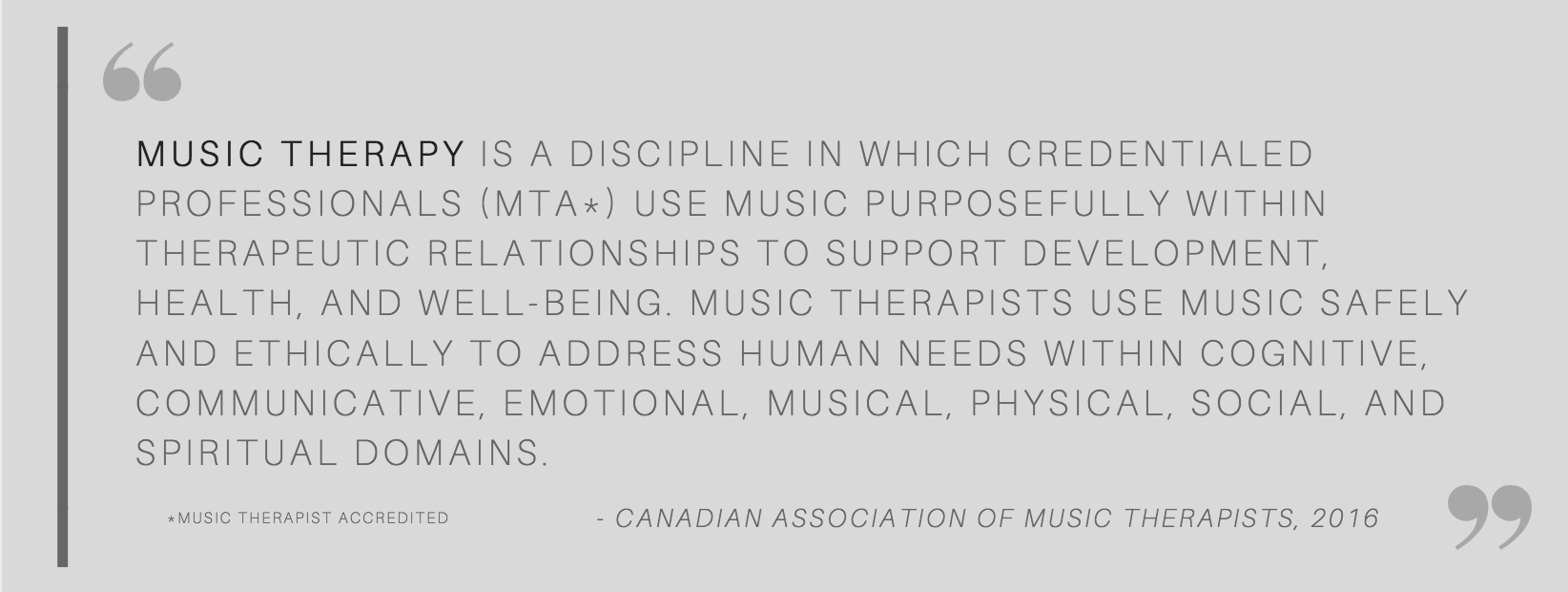 Music therapy definition (CAMT)