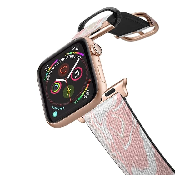 pink paint Apple Watch band