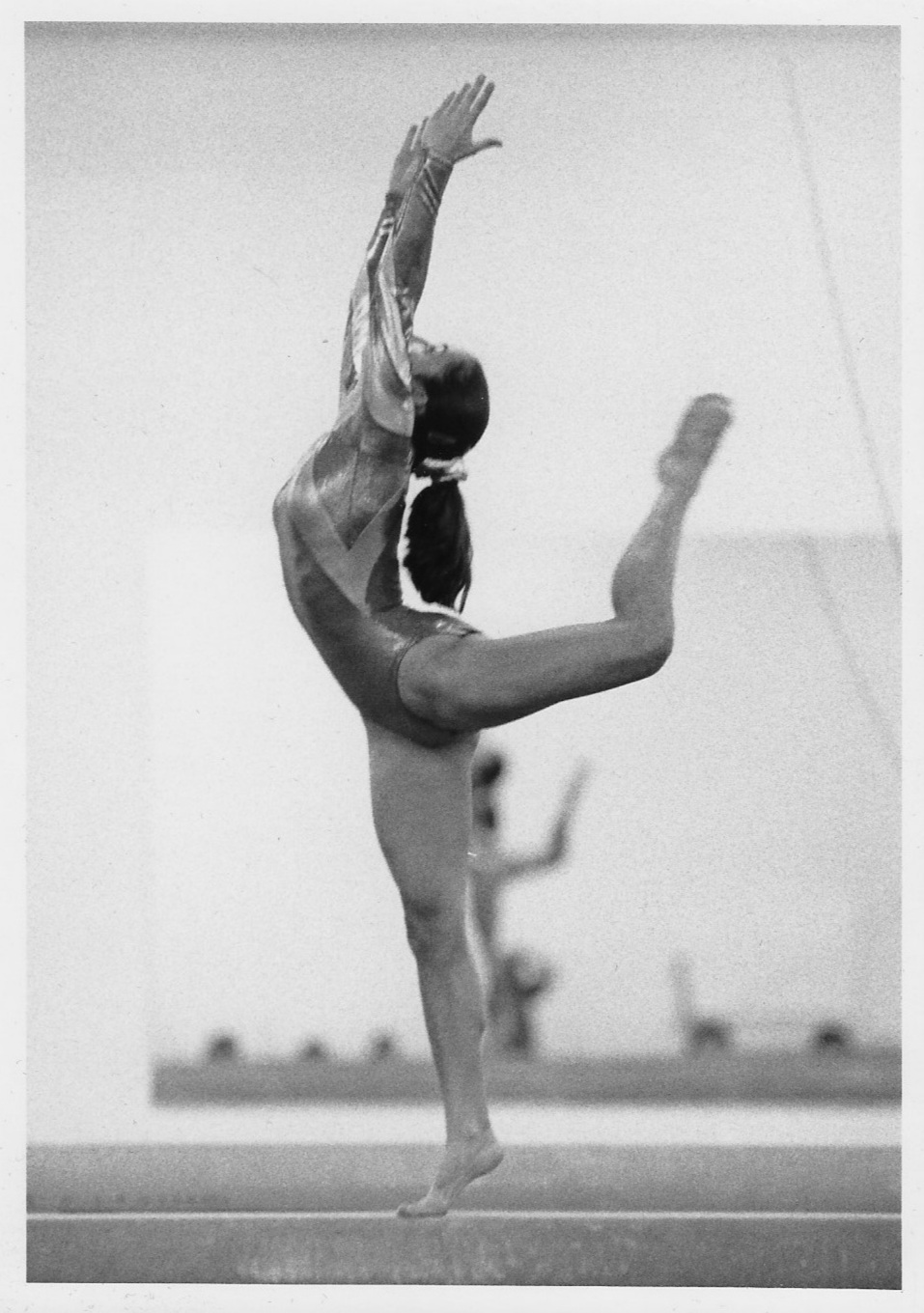Maureen's daughter, Erica, in action as a gymnast earthside.