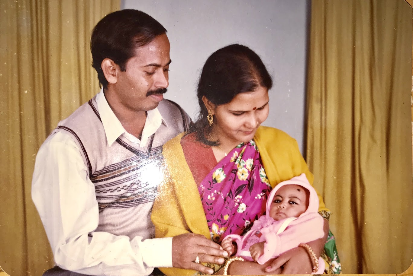 Pictured: Baby Sanjida with her parents.