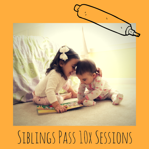 10x Session Sibling Pass - We know that bringing TWO kids can get expensive. Our 'Siblings Pass' allows you the same flexibility of a flexi pass... but you can book in two spots and only pay half price for child number 2. It is also valid for 10 weeks so you don't need to worry if kids are sick and you miss a session.