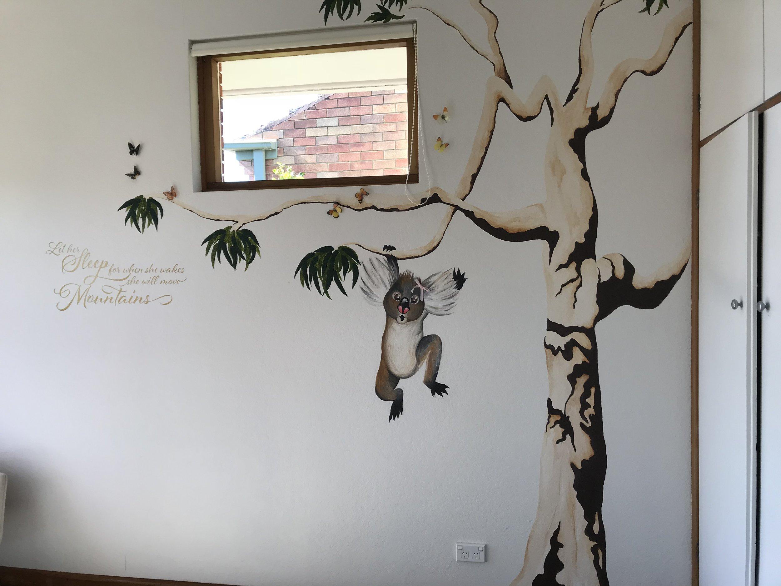 Koala Lou inspired wall mural. (Child's bedroom)