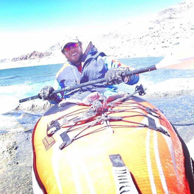 I survived my most recent expedition:  The Highest Kayak on Earth  Looking forward to feeling my toes again... #Kayaking #WorldRecord #Unstoppabull