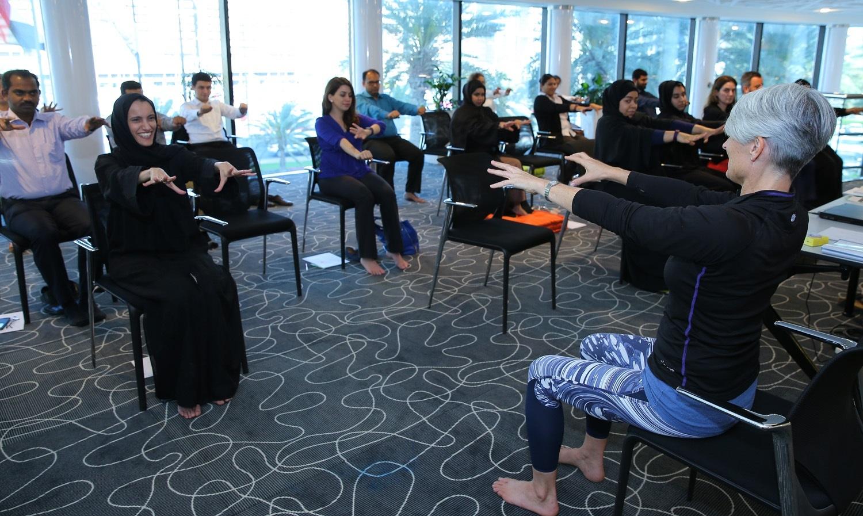 Dubai Chamber of Commerce - Chair yoga class