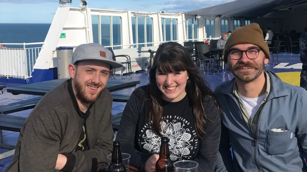 Steven, Katie & Joel on the boat to Amsterdam to visit charcuterie producers Brandt & Levie, April 2018.