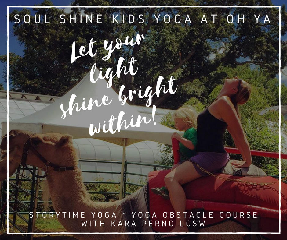 Featured Workshop - July 15th 10:15-11 AM - Coyote TentA fun and creative way for kids to experience a variety of activities to explore the FUN damentalsof yoga~from creative arts and visual mediation to moving with scarves, balancing blocks &peacock feathers, kids will connect with their inner child, mind & body. Age appropriate play and practice explored.Kara Perno is the Founder of Inner Peace Creations, LLC, she is a Licensed Clinical Social Worker who has 15 years of experience working with children, adults and families. Kara focuses on strengths and incorporates mindfulness, meditation, breathwork and yoga with traditional therapy modalities to address trauma related issues, Anxiety and Depression. She received extensive training in Mindfulness, is a certified Kids Yoga Teacher and 500hr RYT of Kundalini Yoga under the study of Ravi Singh & Ana Brett.Kara incorporates these sacred techniques and a lot of heart within her offerings to help lift and empower spirits.