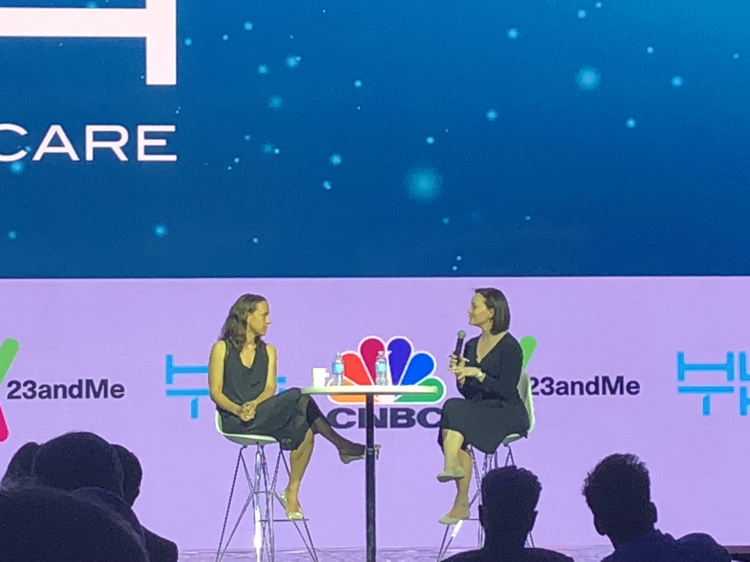 Meg Tirrell  (CNBC) interviews  anne WOJCIcki  (Co-Founder/CEO, 23andme)