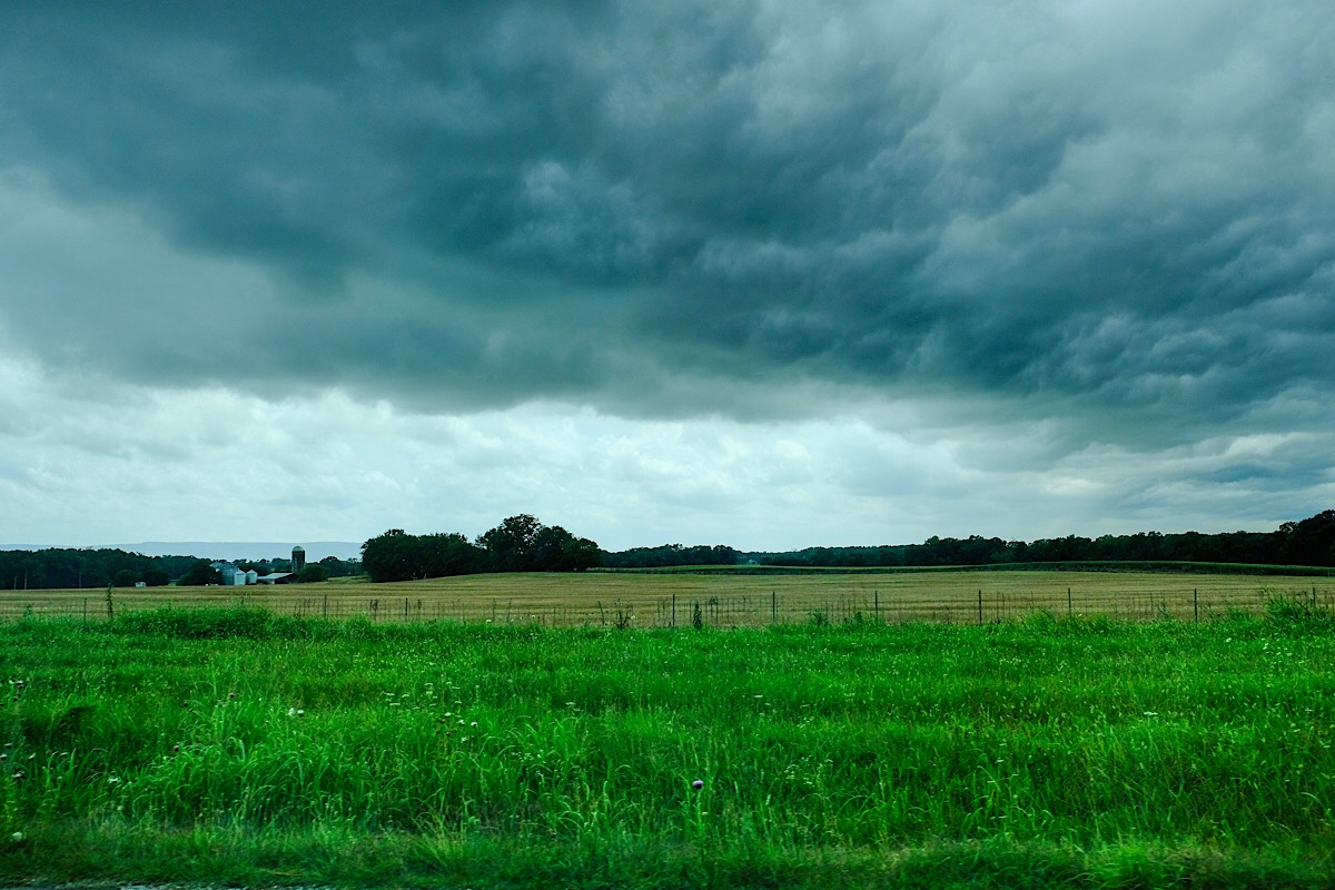 Ominous and dramatic clouds