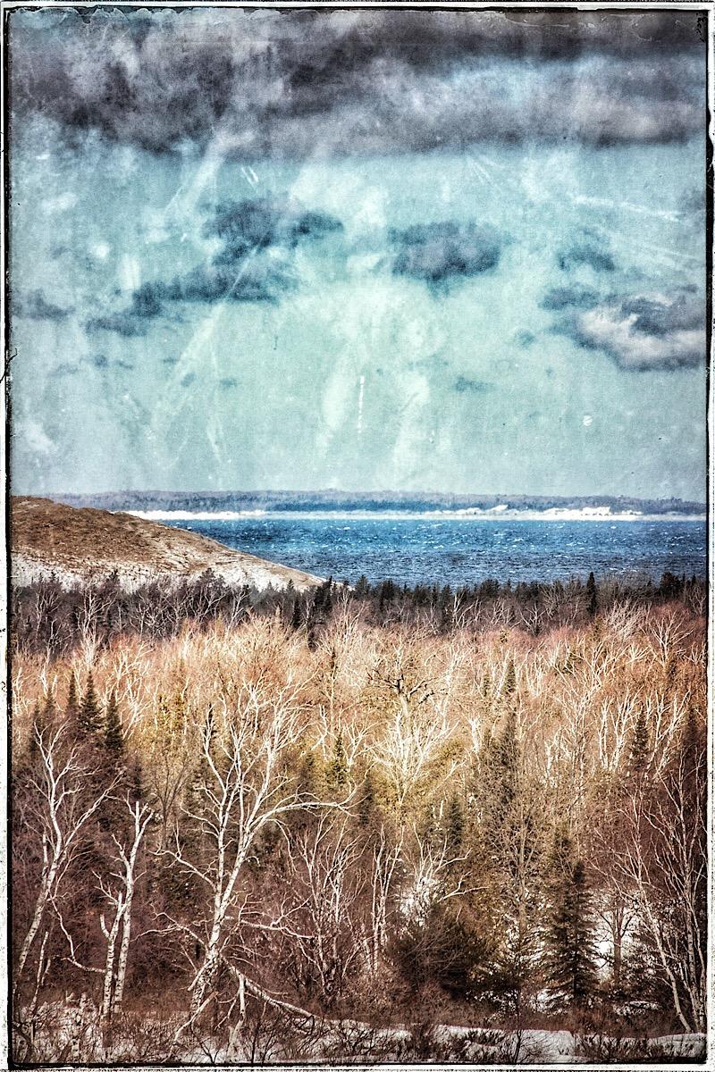 Lake Michigan near the Manitou Passage, modified original. (click to enlarge)