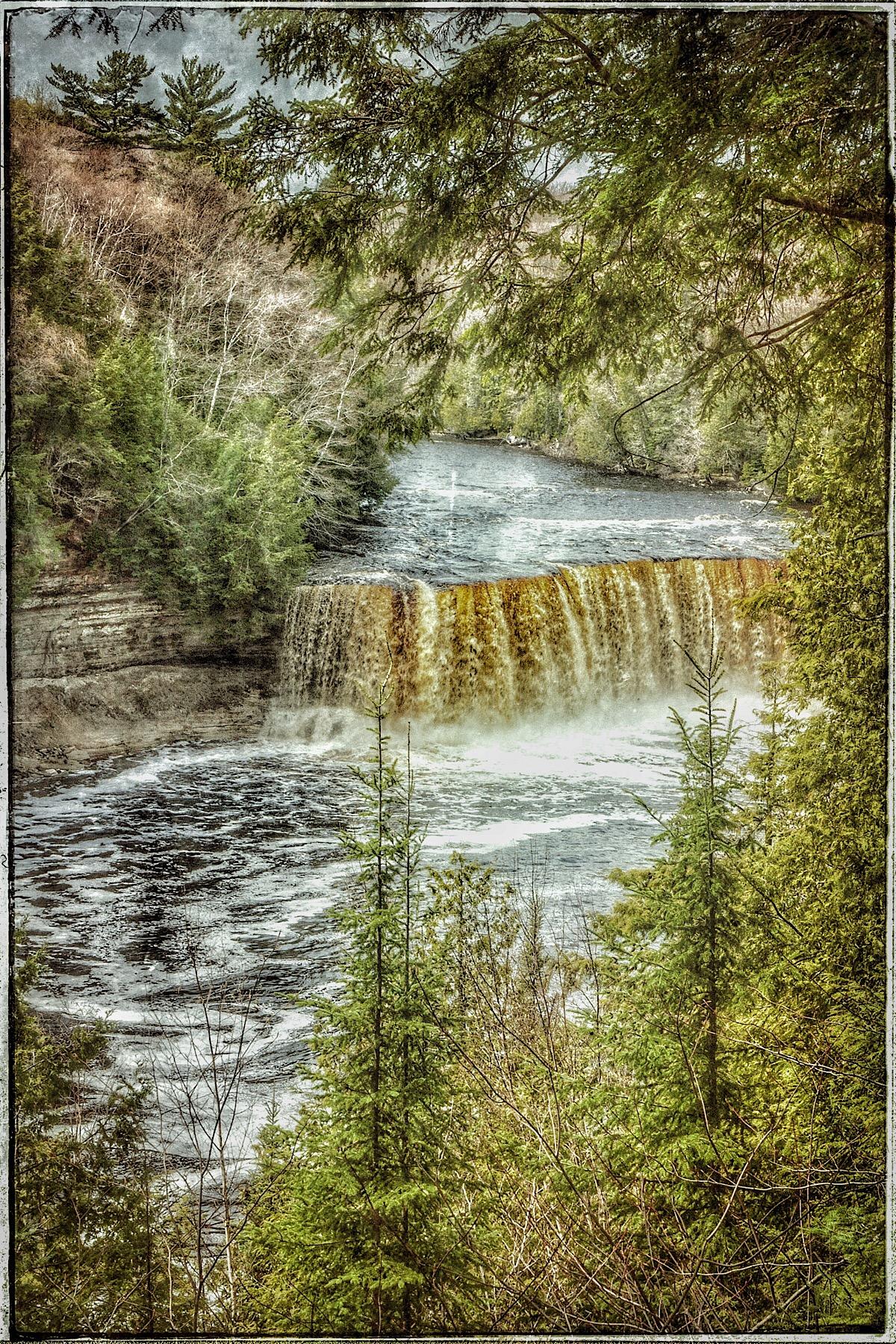 Tahquanenon Falls, modified original. (click to enlarge)