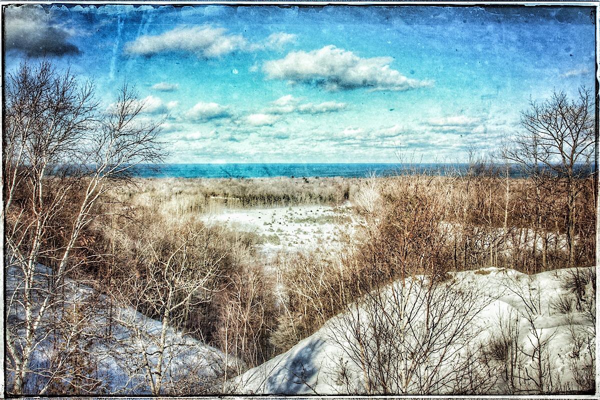 Lake Michigan from Sleeping Bear Dunes, modified original. (click to enlarge)