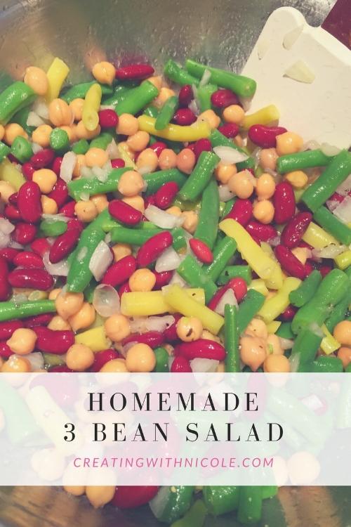 Homemade 3 bean salad