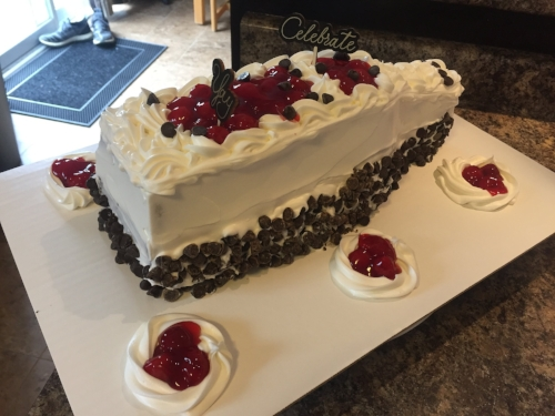 My black forest wine bottle cake!