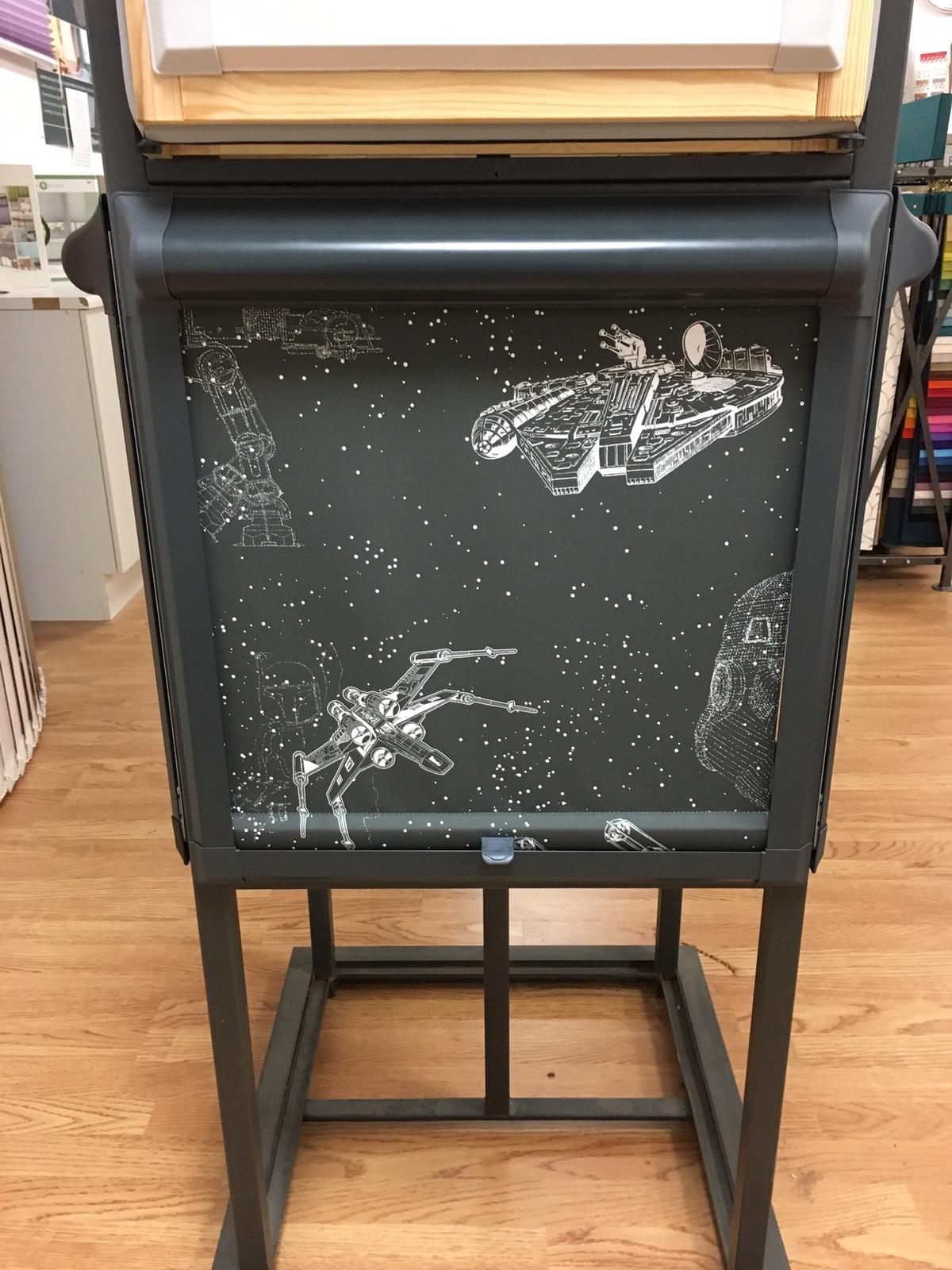 New Star Wars fabric in a anthracite perfect fit frame
