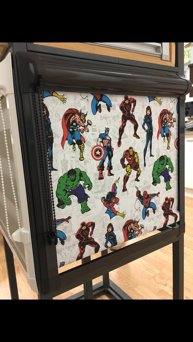 Marvel super hero roller in perfect fit frame
