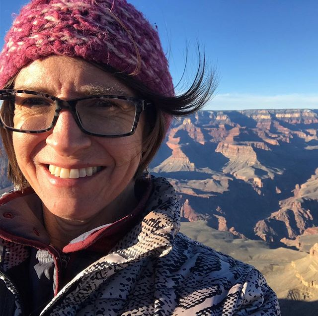It was cold and windy at the Grand Canyon. I loved watching the colors change as the sun went down.  #grandcanyon #adventure #roadtrip #outdoors