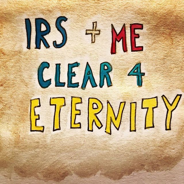 In the realm of the soul, all is well. The earthly IRS, however, operates by different rules.  One day.... #taxseason #taxday