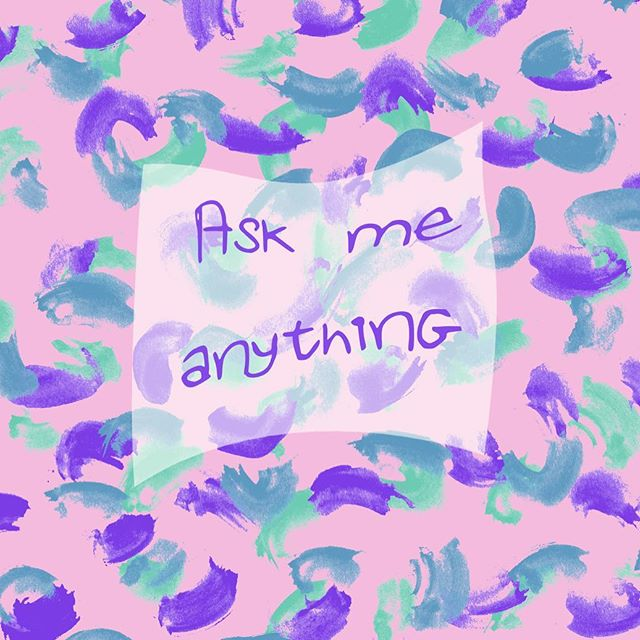 What would you like to know from me? Post a question in the comments! 🤔 #askmeanything #surfacedesign #surfacepatterndesign #painting #digitalartist