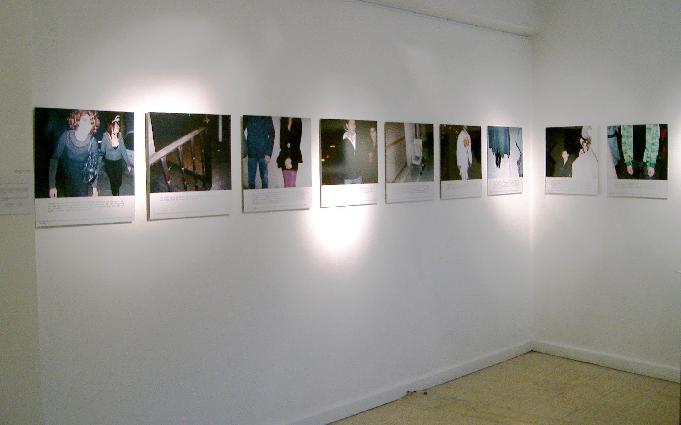 "Exhibition view, ""Photography and Text"", the ArtStudio, Nicosia, Cyprus, 2009"