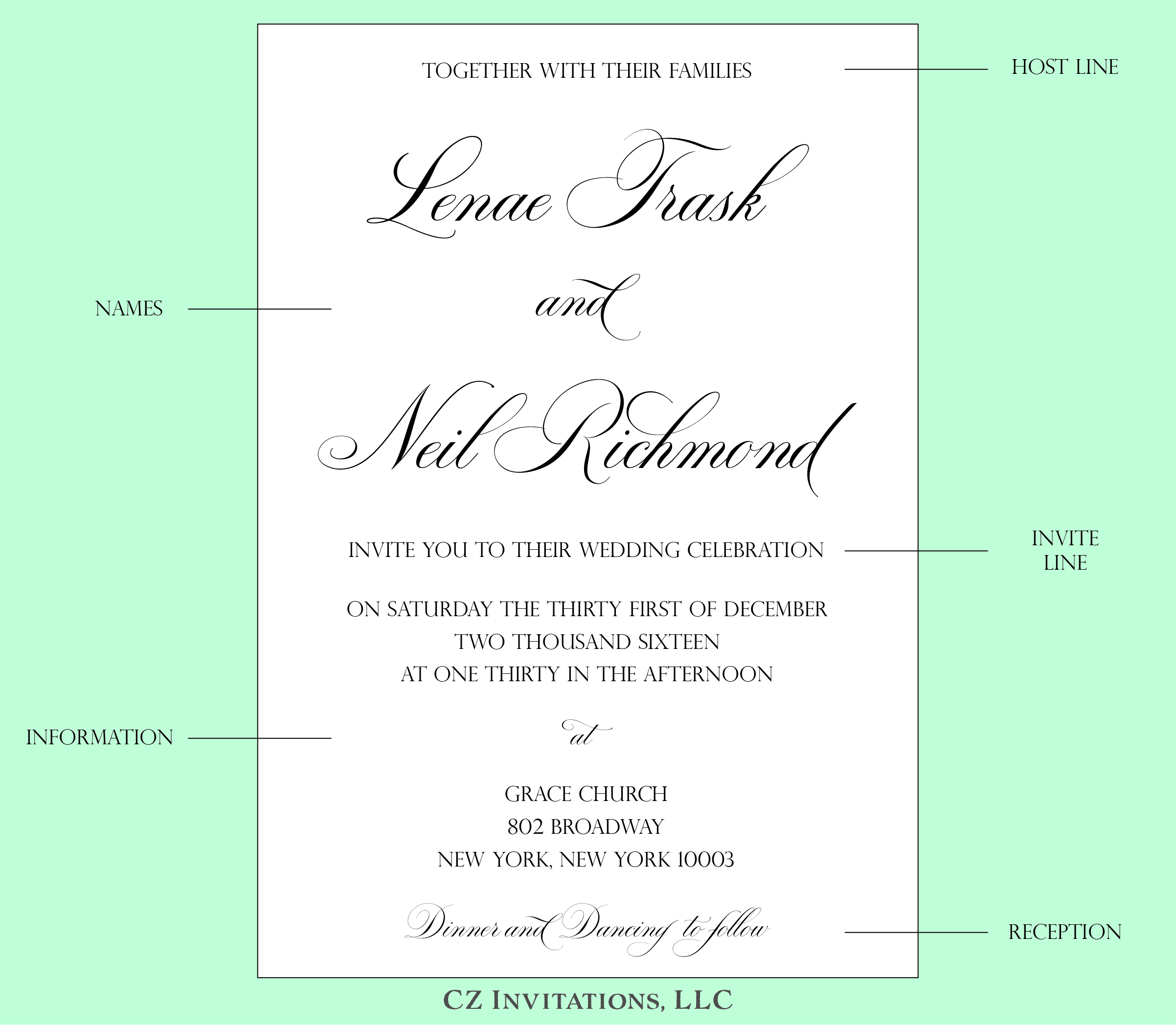 Reception Following Ceremony Wording: How To: Wedding Invitation Wording