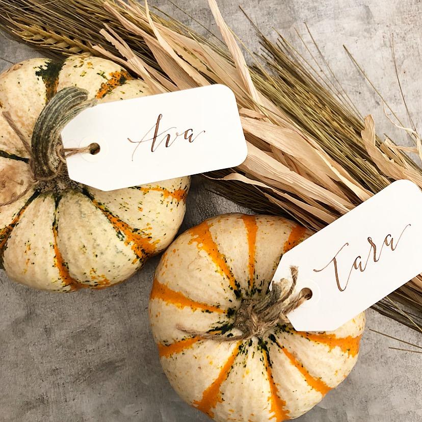 Pumpkin-table-place-card