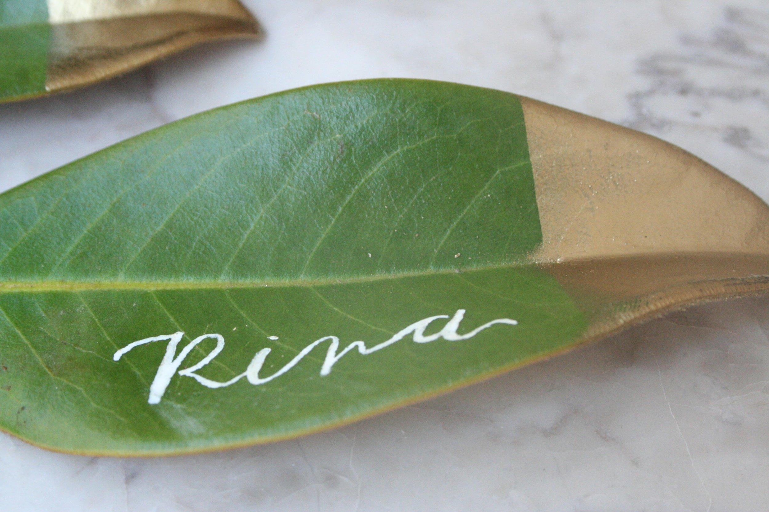 Gold-dipped-DIY-magnolia-leaf