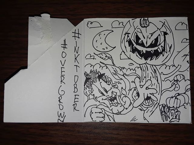 #inktober2019 #inktober #ink #overgrown #murm #murmvonstyles #ITP #pumpkin #happythanksgivng