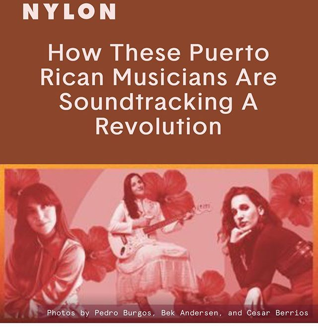 Gracias @nylonmag for talking music and revolution with me. So happy to be included in the company of @andreacruzmusica and @cabralu ¡Seguimos! ❤️🇵🇷✊🏽 . . . #protestmusic #musicaprotesta #artivism #puertorico #activism