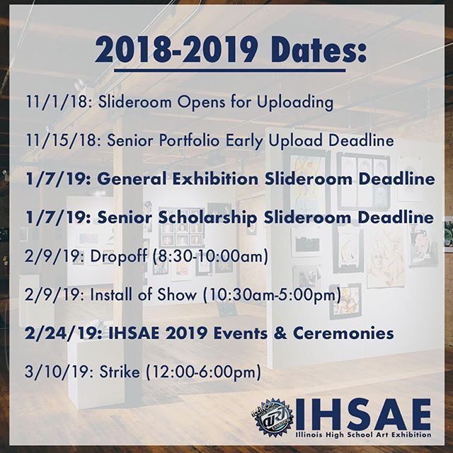 Dates to remember for this year - has your school registered yet? Head to ihsae.org for more info!