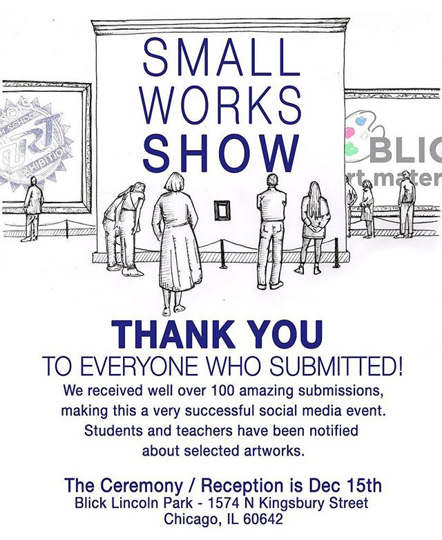 Truly, thanks to everyone for supporting the organization by submitting. It was a huge success and there are so many wonderful works to view. Looking forward to the second annual Small Works Show!