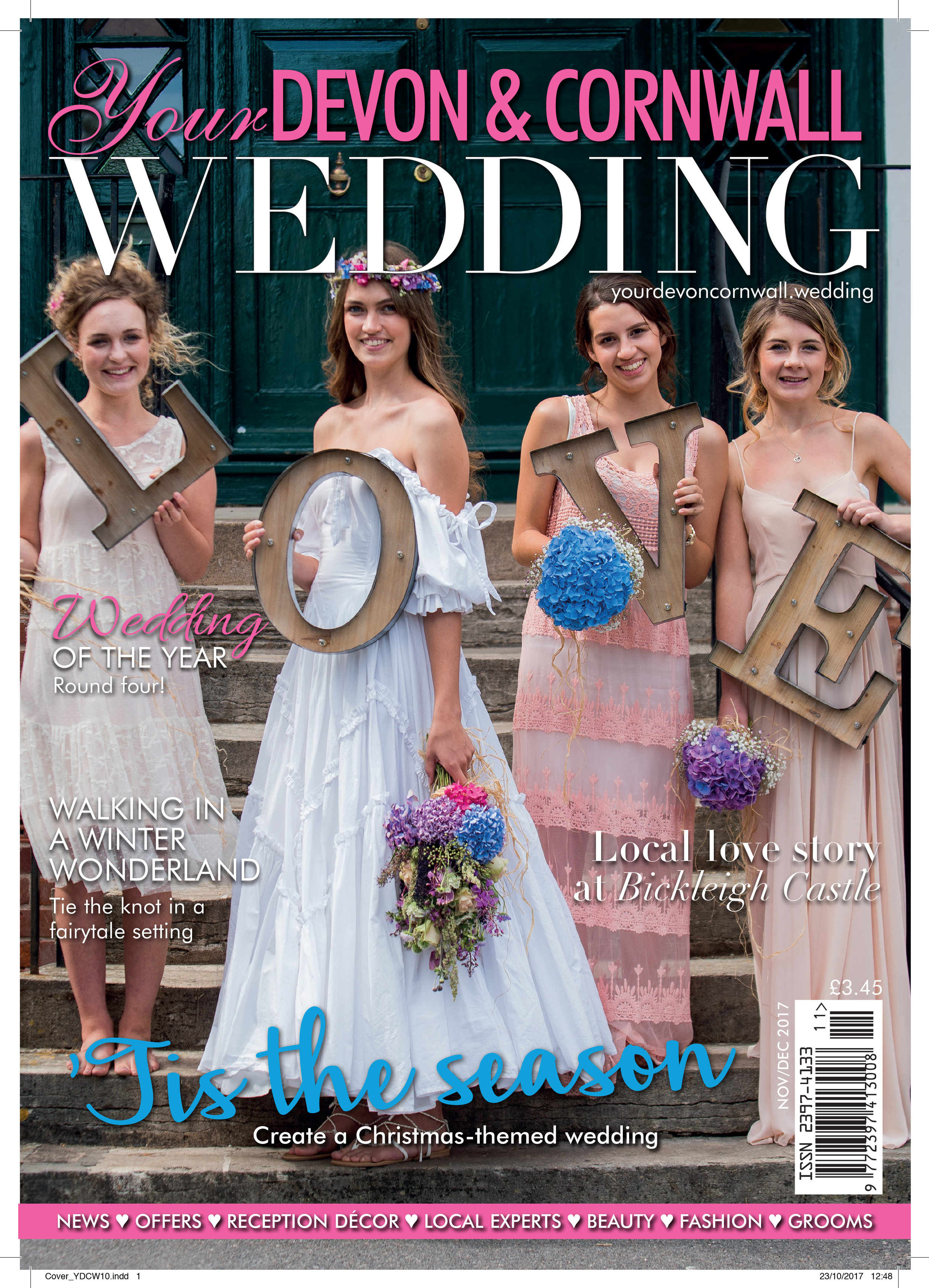James A Photography on the cover of Your Devon and Cornwall Wedding magazine