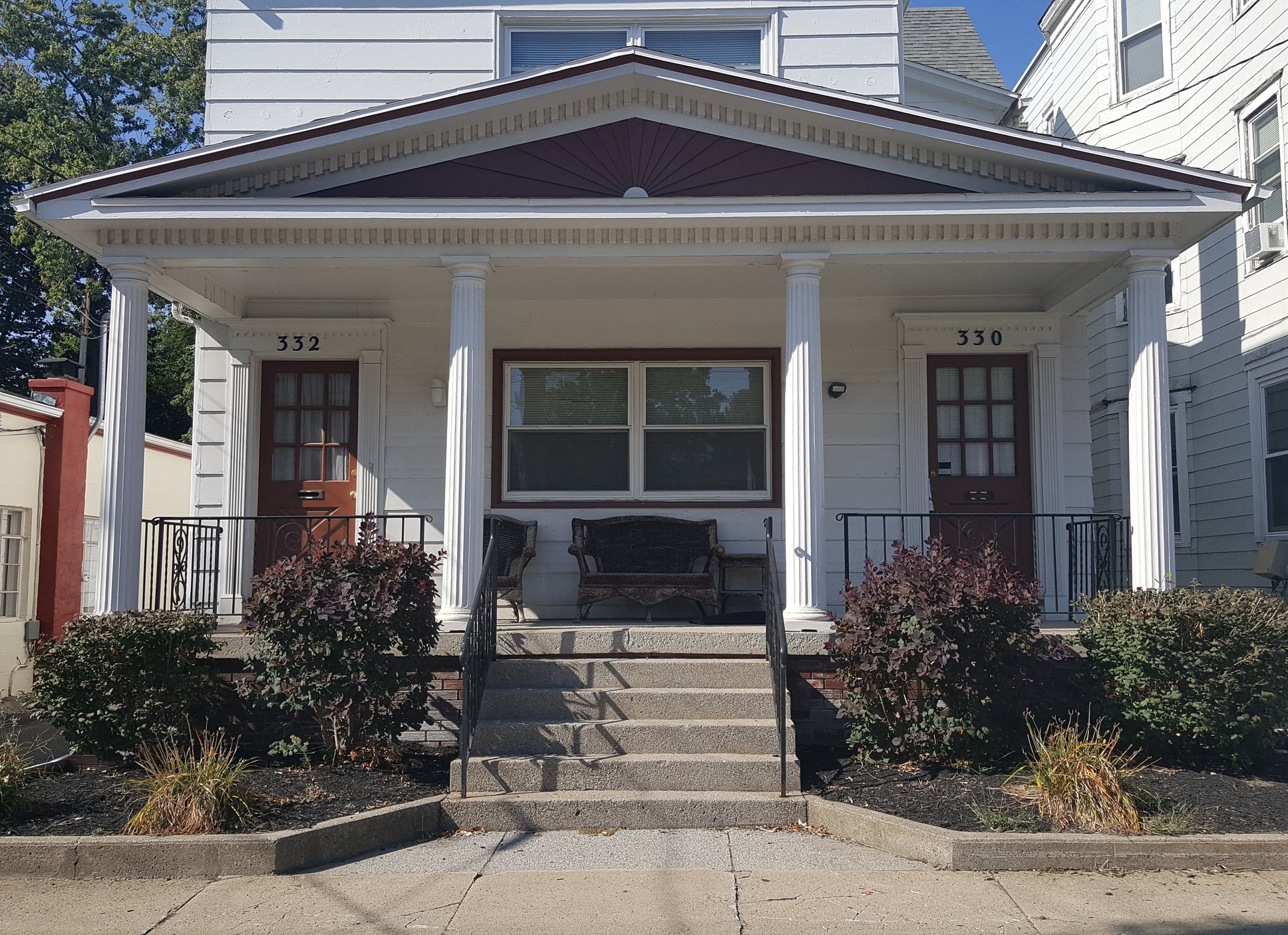 Double Four - 330 West 8th Street Erie, PA 16502This property, located in the beautiful Presta District, consists of two- (4) four bedroom units. This building offers off street parking, onsite laundry and two full bathrooms in each unit.