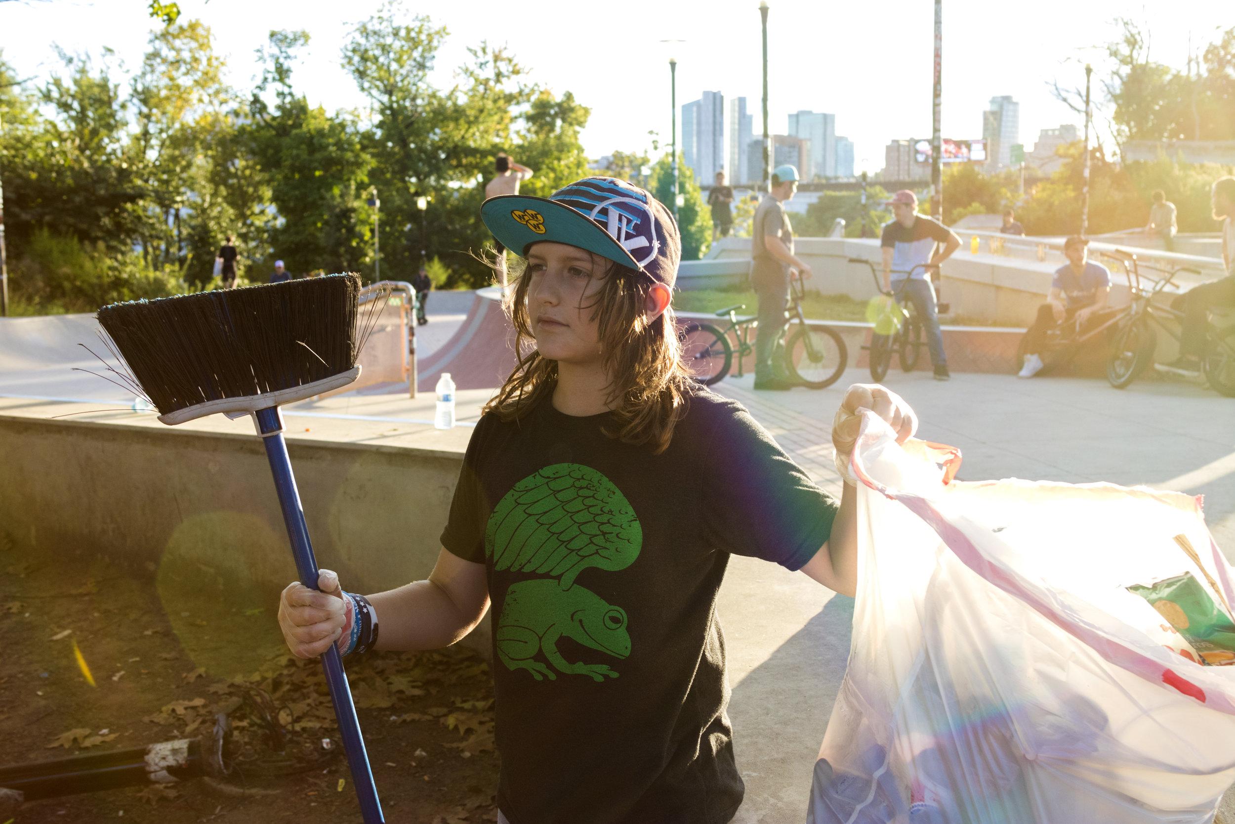 Noah Collecting Trash