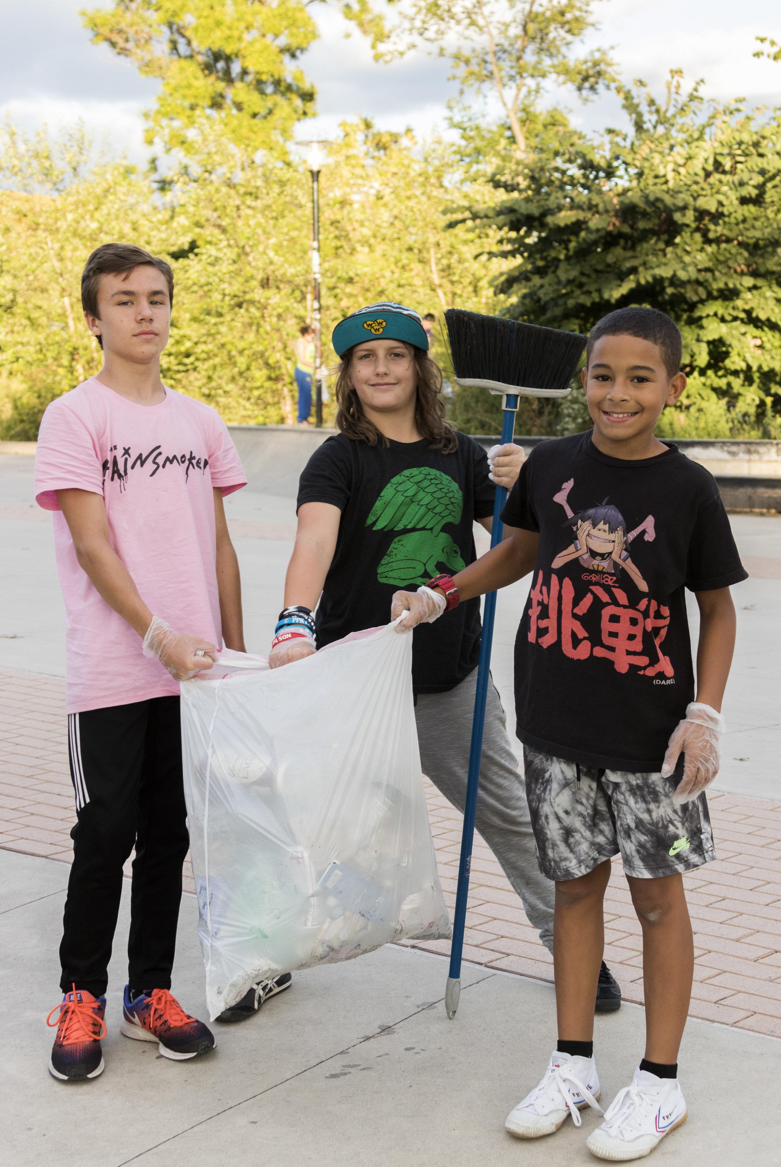 The Intrepid Trash Trio