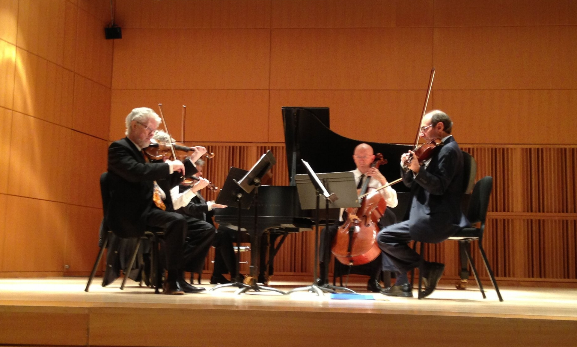 """Eric Lewis with the Prometheus Piano Quintet"