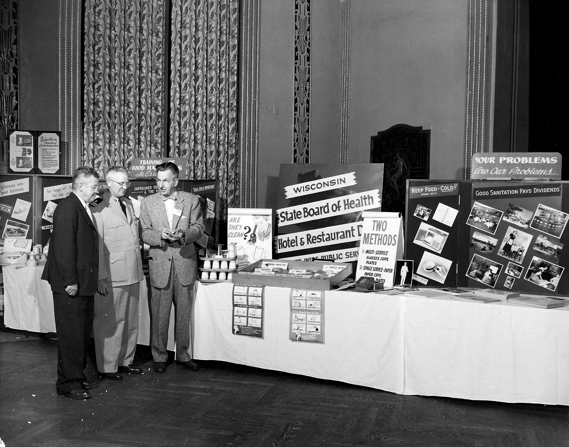 Vendor booths during the 1953 17th National Annual Educational Conference