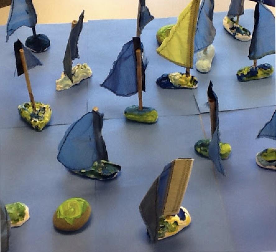 Blue Clay Boats