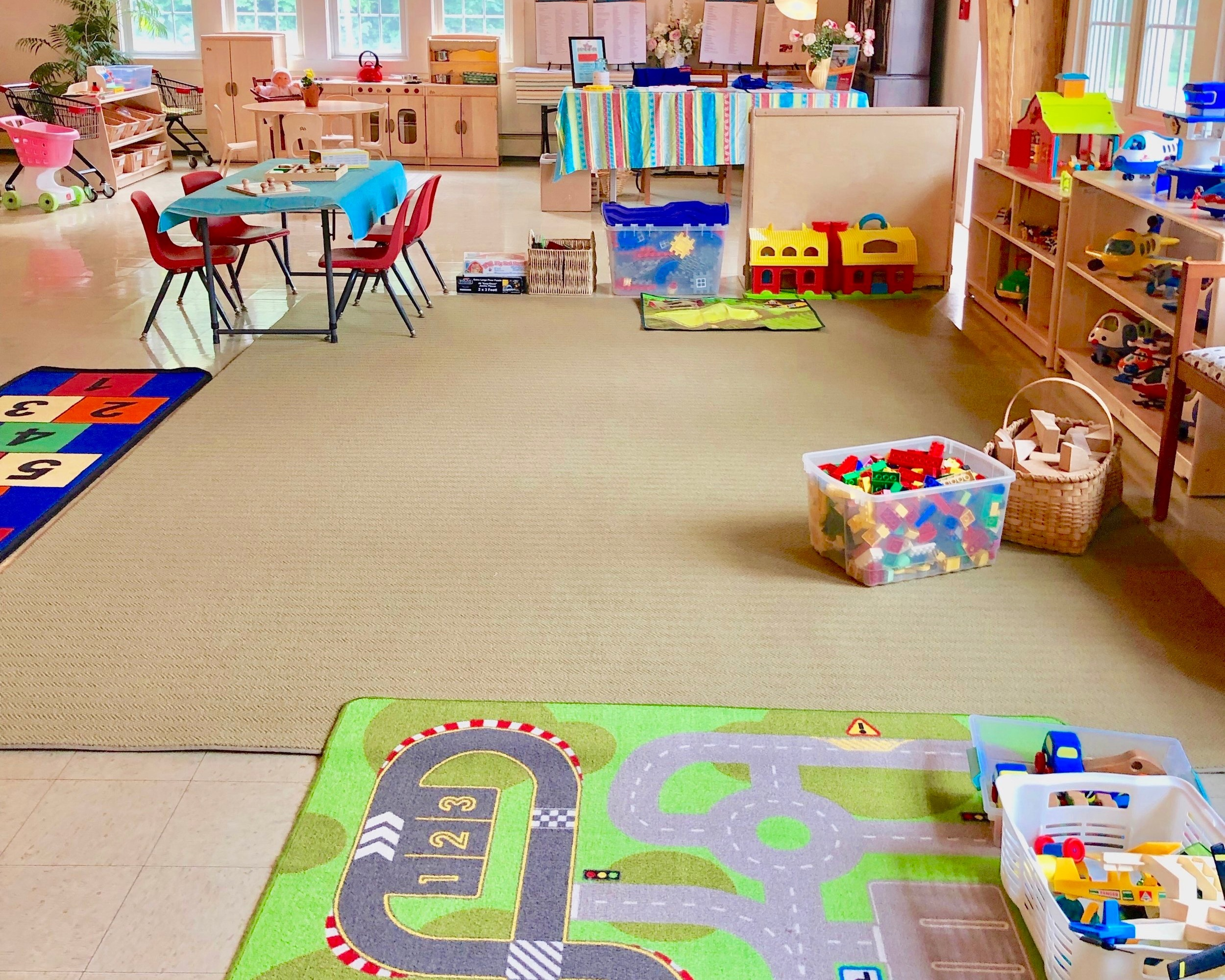Our play space - Toys and creative materials in our play space rotate weekly.Each visit there will be something new for your family to explore!