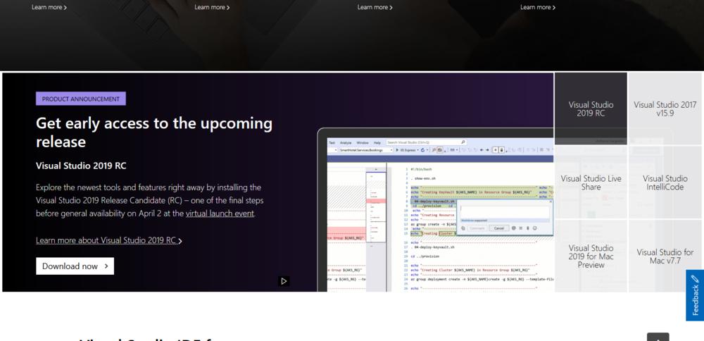 Visual Studio 2019 Rc