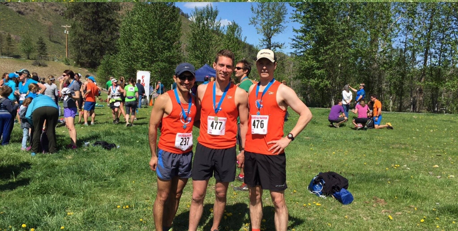 Club members Waqar Shaikh, Seth Berntsen, and David Fort went 1-2-3 at the 2017 Methow Trail Sunflower Half-Marathon, with Waqar setting a course record!