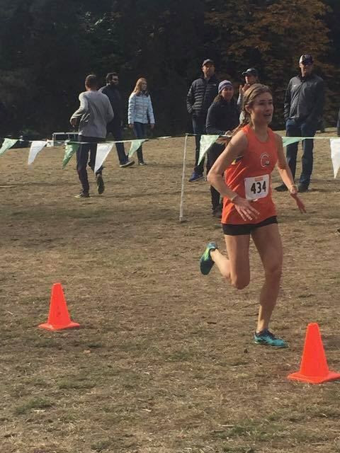 Lana Lacey having a strong race at Lower Woodland Park