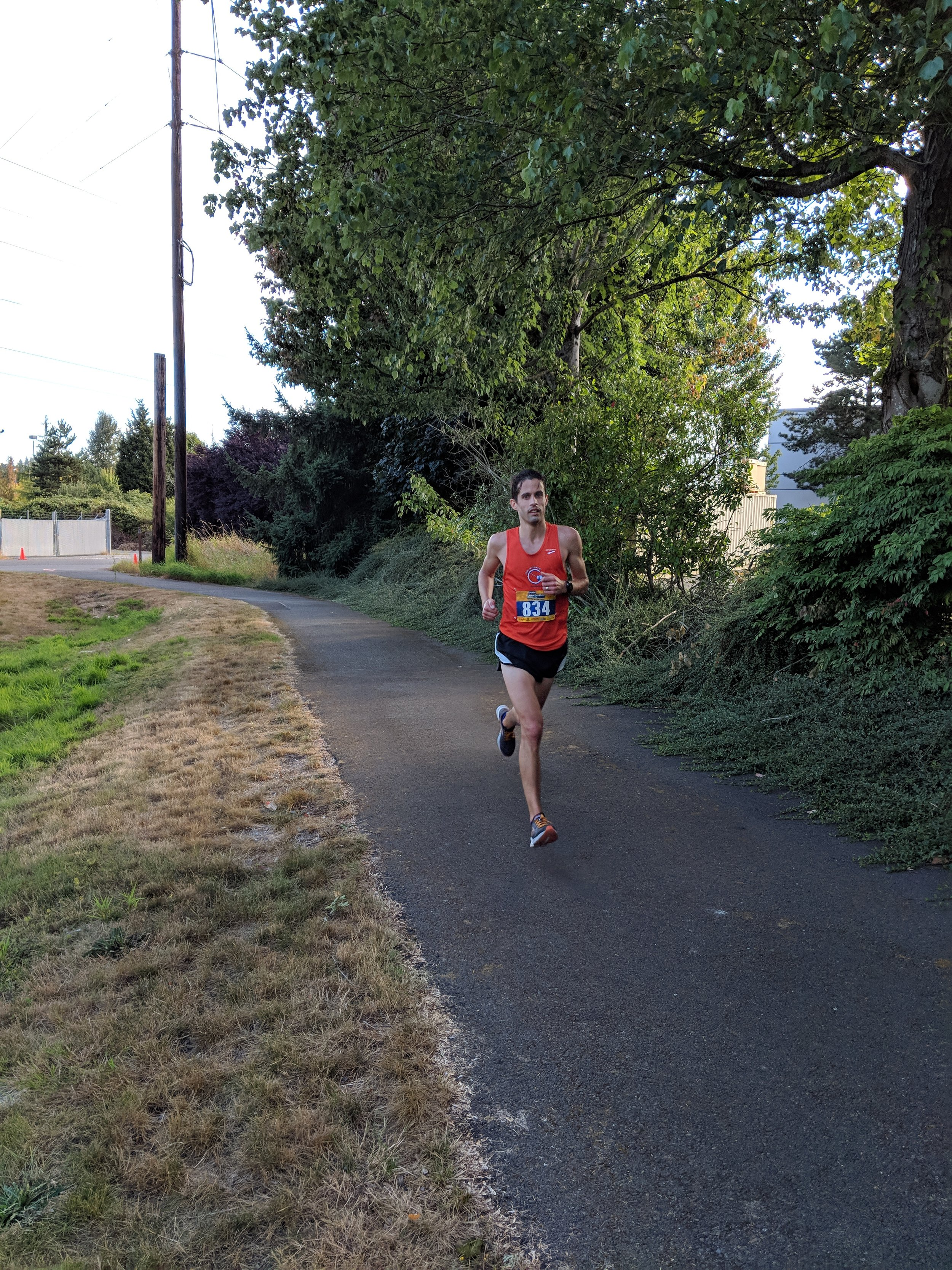 Nick Welch running strong at the 2018 Labor Day Half