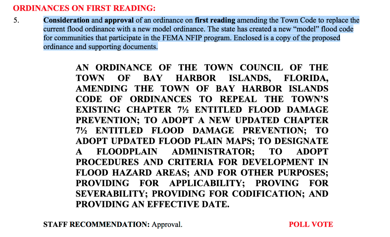 Town of Bay Harbor Islands Agenda