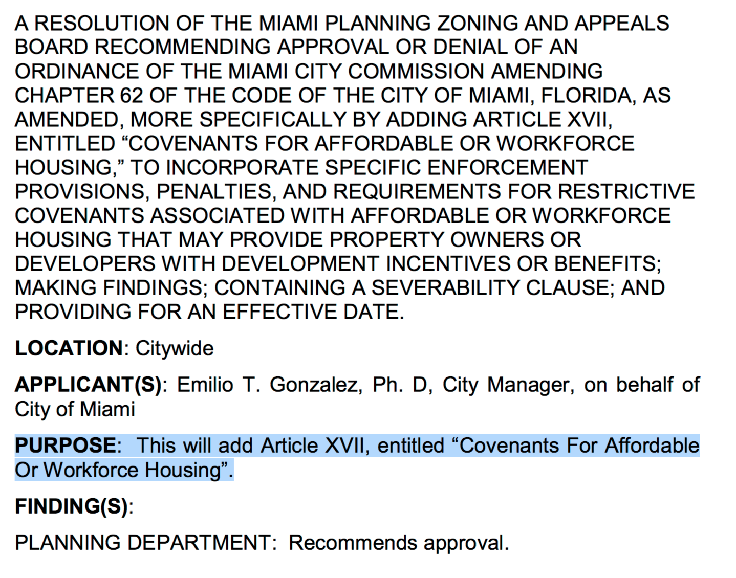 City of Miami Planning, Zoning & Appeals Board Agenda (PDF version)