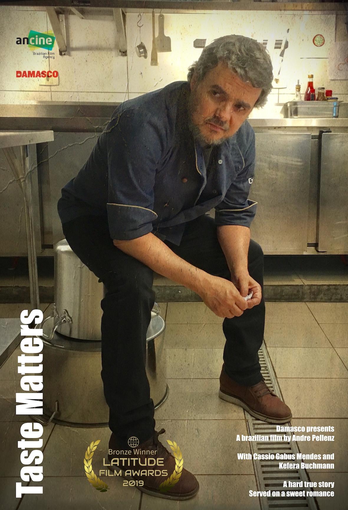 """Taste Matters - Escrito, dirigido e co-produzido por André PellenzProduzido por Marcus Baldini, Lara Guaranys e Marcelo Monteiro (Damasco Filmes).Lançado como """"Gosto se Discute"""".Conta a história de um chef que perde o paladar justamente quando precisa fazer um novo cardápio e salvar seu restaurante."""