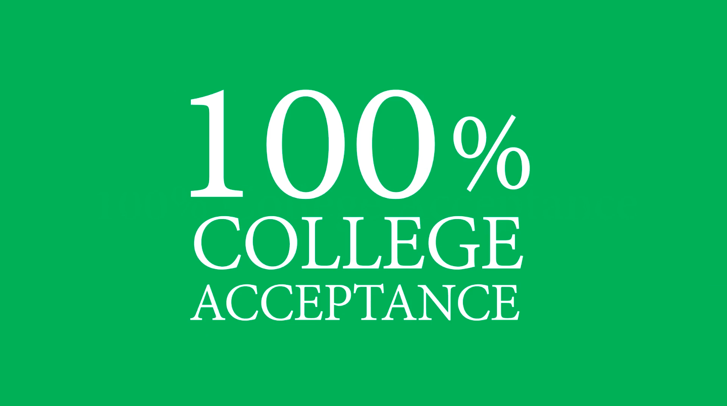 100% College Acceptance Rate