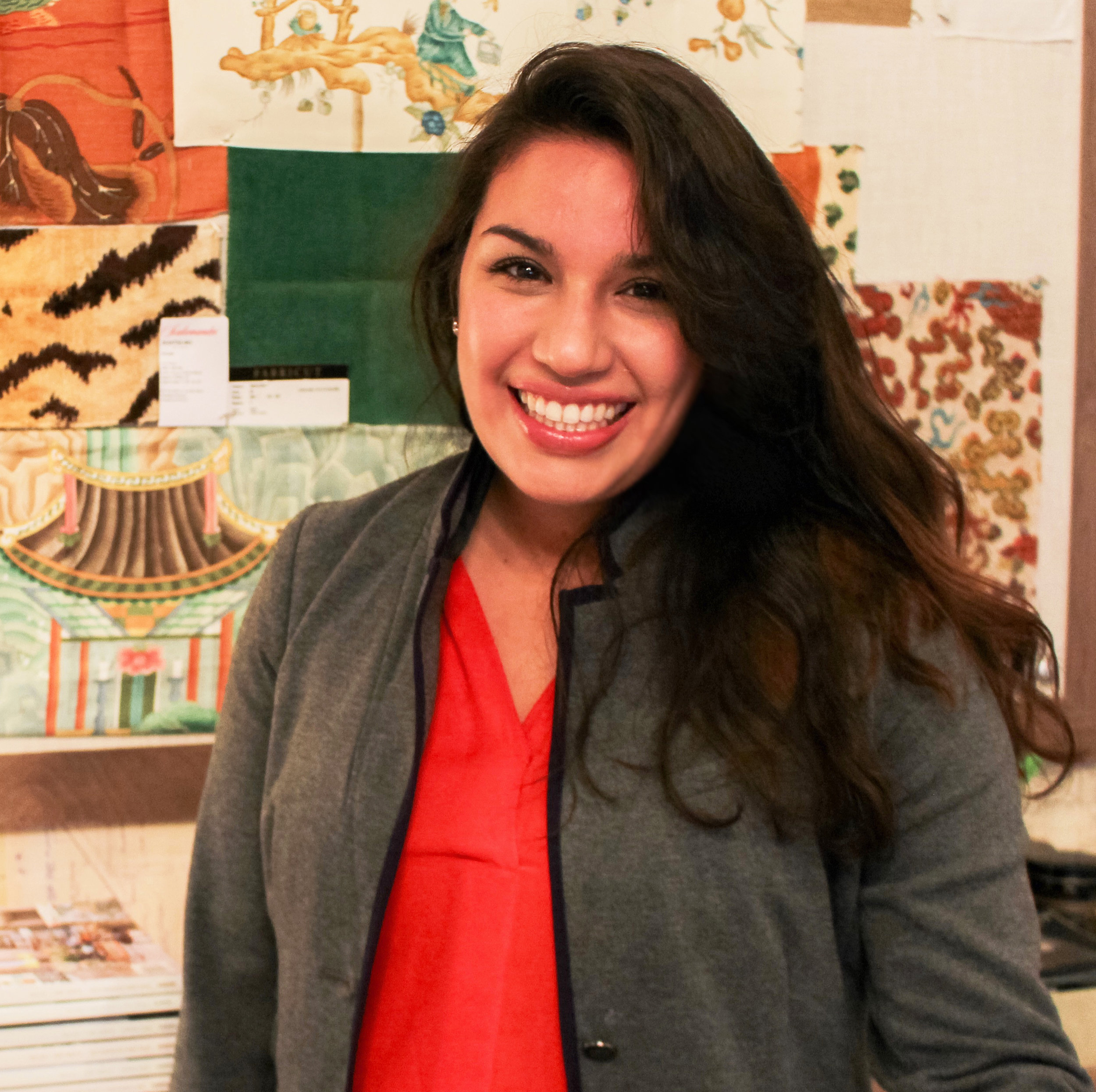 Natalie Sanchez   Office + Procurement Manager  natalie@angelineguidodesign.com  Joined AGD: August 2016  Natalie was born and raised in Mesquite, Texas. She is a very important part of the team, as she acts as support for both the designers and clients by filling the role of office manager and procurement manager. She tends to many of the behind the scenes things that keep projects moving along by implementing all the logistics that go into completing a design. Natalie comes with much knowledge in the industry and what it takes to successfully oversee the design process due to her previous work experience in a very similar position. She is such an integral part of the every day operations of the business and no one can remember what their work life at AGD was like before she came on board. Literally, Angeline couldn't make it through a week without Natalie. She is the office mom that keeps everyone from falling apart.   Natalie lives in a suburb of Dallas with her husband, Santiago, and spunky 8-year old daughter, Nadya. They have a handful of dogs and other farm animals that reside on their land with them. They are very active with their church and enjoy spending time together as a family. Fun fact: Natalie's husband works in Angeline's husband, John's, State Farm office. Santiago has contributed immensely to John's success as an agent.