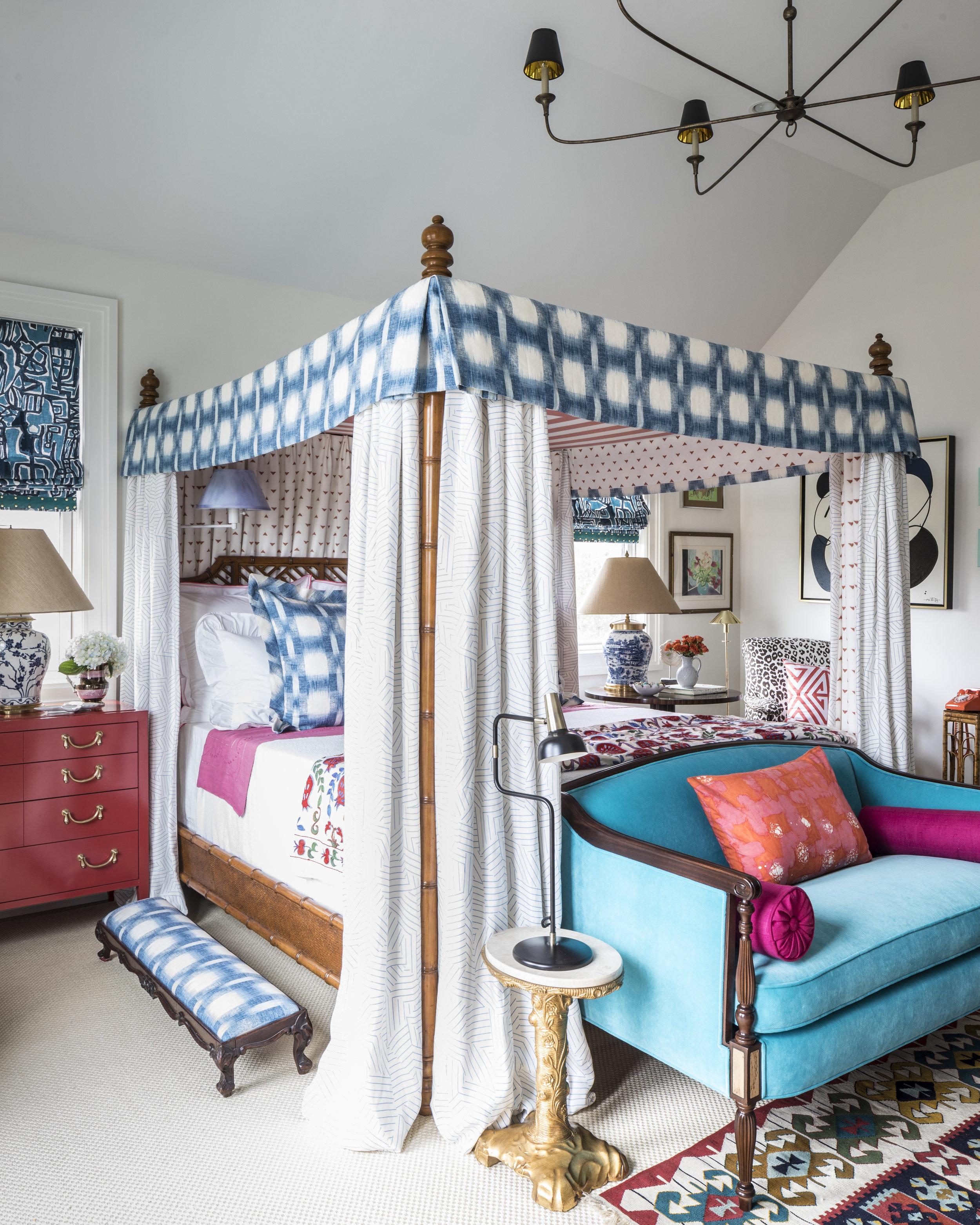 Traditional Home Hamptons Showhouse, 2017, Master Bedroom - Project Manager and Assistant Stylist to Lead Designer, Eddie Ross
